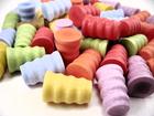 Ozdobne kolorowe korki zatyczki fale 6 szt prezent (2)